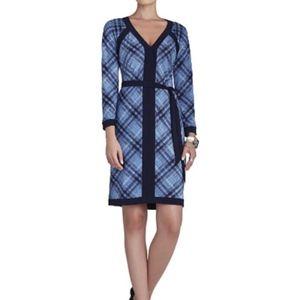 """BCBG """"Mayla"""" V-Neck Long Sleeve Jersey Dress"""